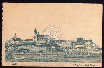 Lublin Ggolny widok Lublina Feldpost ca. 1916
