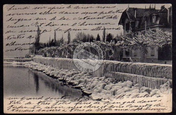 Versoix 1905 Bise glacile a Geneve  1905