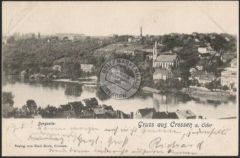 Crossen an der Oder Bergseit Kirche 1901