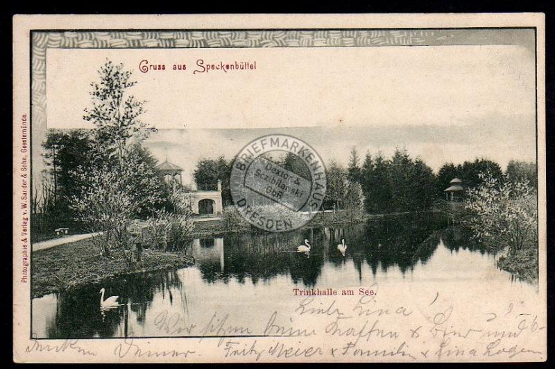 Speckenbüttel Trinkhalle am See 1901 Bremen