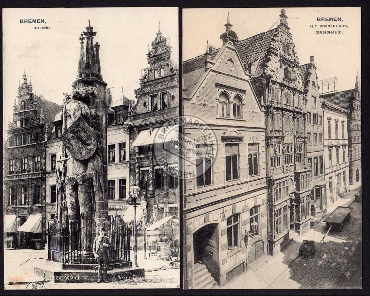 2 AK Bremen Roland Vollbild Essighaus Bremerhaus