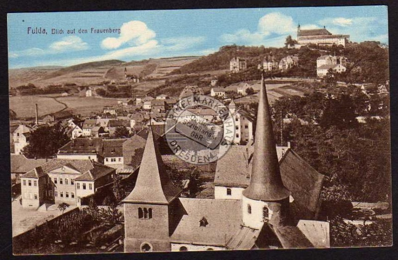Fulda Blick Frauenberg Kirche Burg