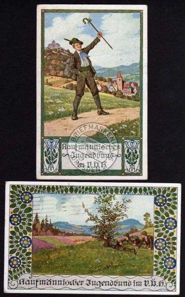 2 AK Kaufmännischer Jugendbund im VDH 1915 1916