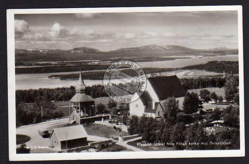 Utsikt fran Frösö kyrka mot Oviksfjällen