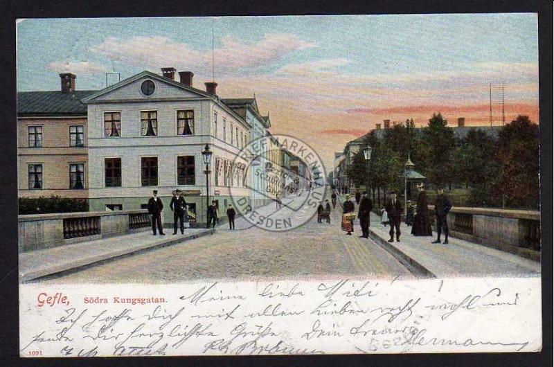 Gefle Södra Kungsgatan 1905