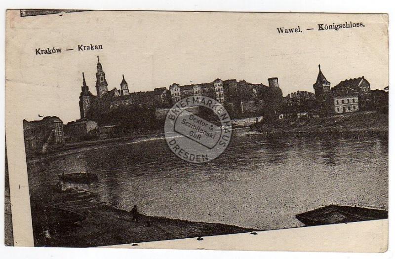 Krakow Krakau Wawel Königschloss 1915