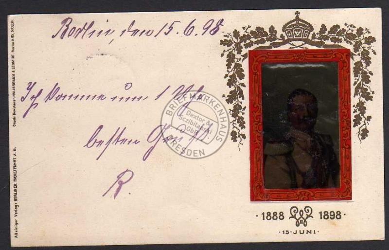 Ganzsache Berliner Packetfahrt 1898 Kaiser