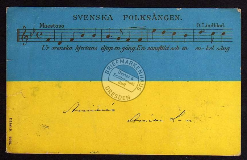 Svenska Folksangen O. Lindblad 1900