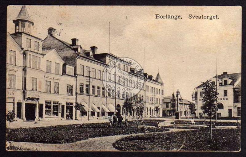 Borlänge Sveatorget Bank ca. 1920