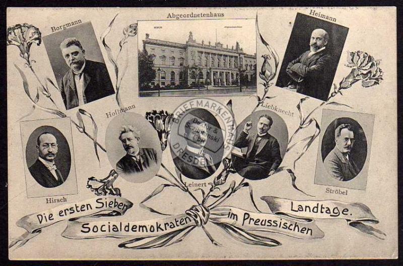 Sozialdemokraten Landtag Liebknecht Ströbel ..