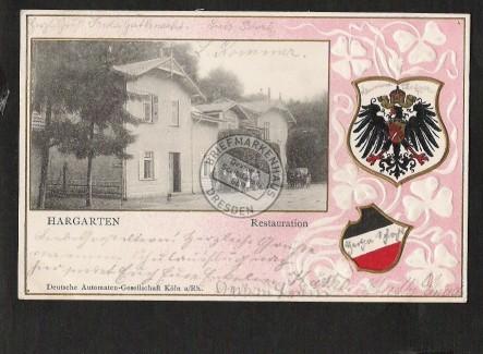 Hargarten Restauration Wappen Prägekarte Adler