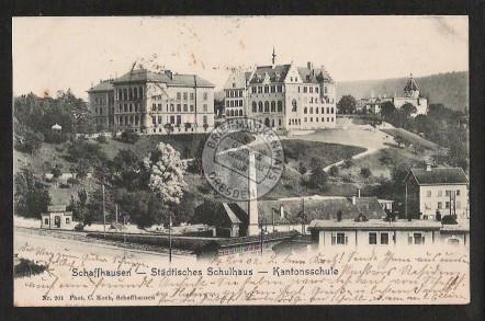 Schaffhausen Städt. Schulhaus Kantonsschule